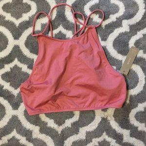 NWT J. Crew Hermosa high-neck bikini top